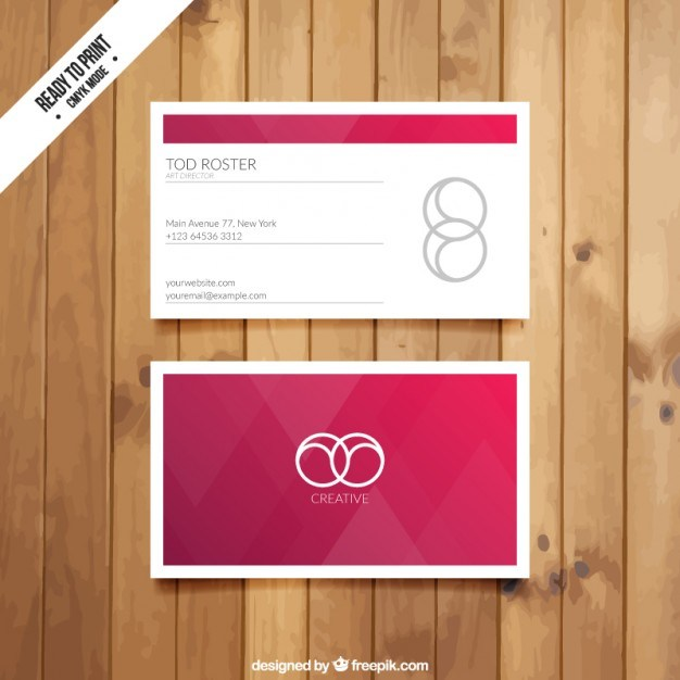 Visit card with red triangles  Vector | Free Download