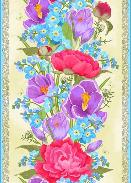 Vivid Flowers vector art 04