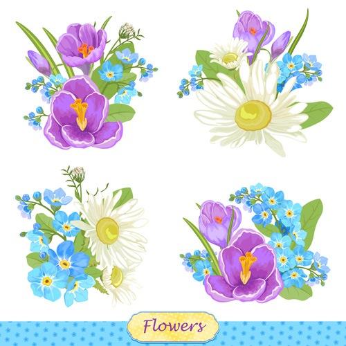 Vivid Flowers vector art 01