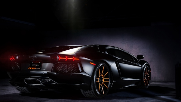 Wallpaper Black, Aventador, Lamborghini, Lp700-4 HD