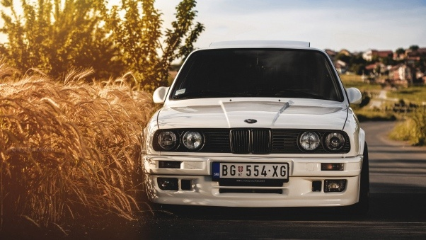 Wallpaper Bmw, 325i, E30, White, Auto HD