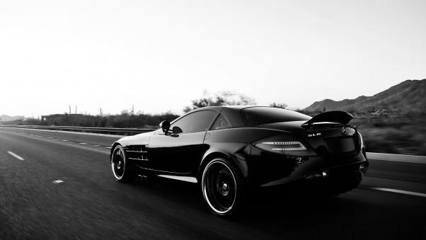 Wallpaper Mercedes benz, Car, Black, Track, Style HD