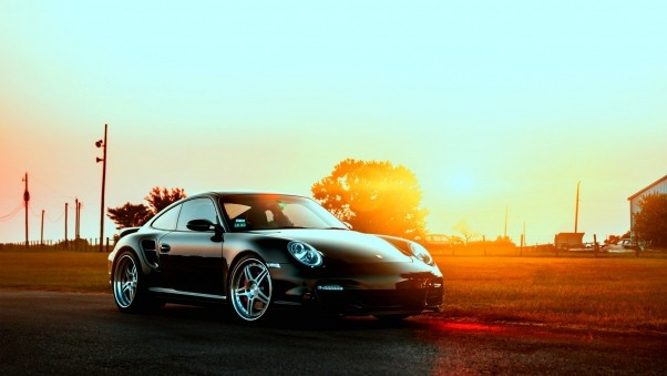 Wallpaper Porsche, Cars, City, Sunset HD