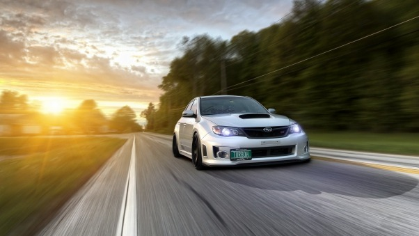 Wallpaper Subaru impreza wrx, Traffic, Auto, Road HD
