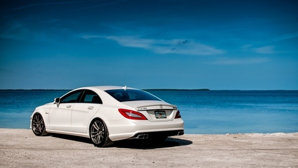 Wallpaper White Mercedes-benz