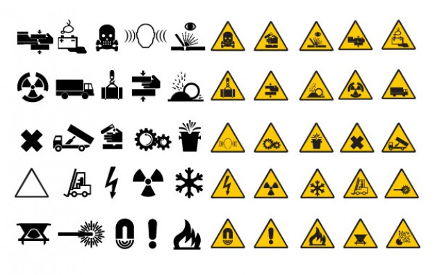 Warning signals collection  Vector | Free Download