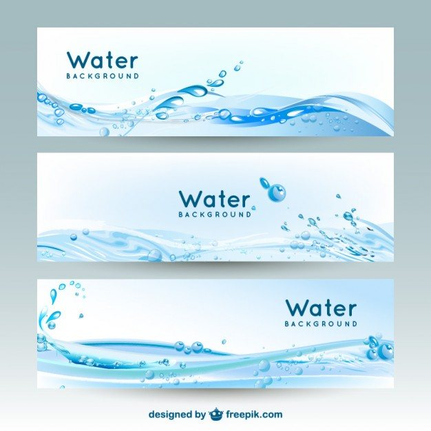 Water banner backgrounds Vector | Free Download
