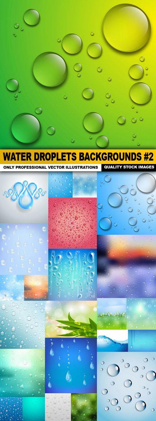 Water Droplets Backgrounds #2 – 25xEPS