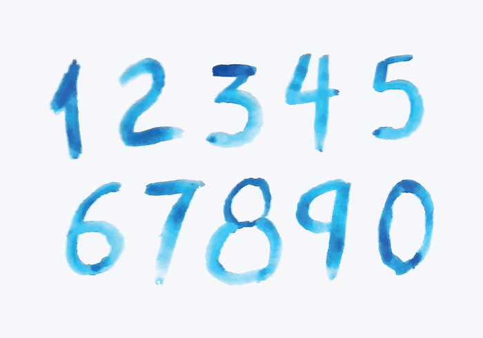 Watercolor Style Numbers – Download Free Vector Art, Stock Graphics & Images