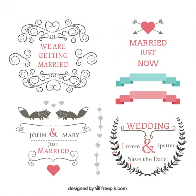 Wedding banners set  Vector | Free Download