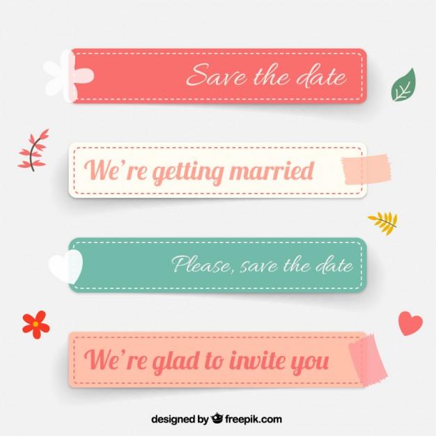 Wedding labels  Vector | Free Download