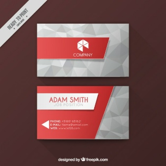 White and black business card  Vector | Free Download