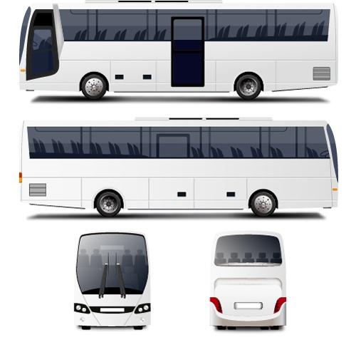 White Bus design vector