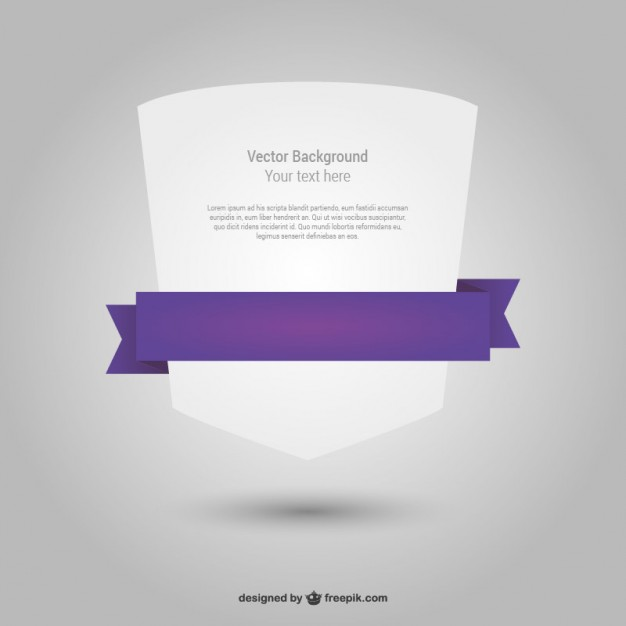 White geometric shape template