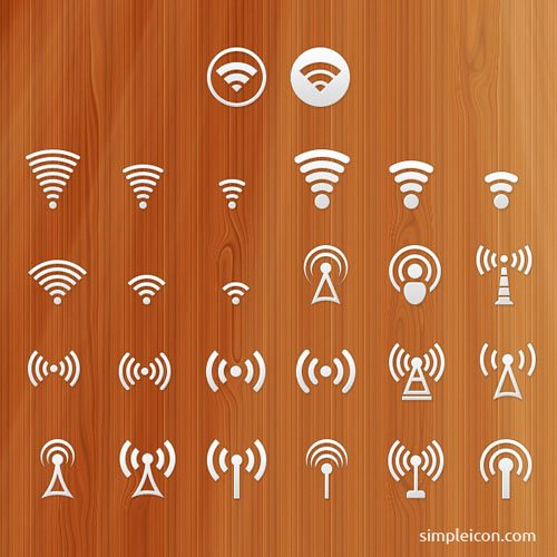WiFi signal free vector icons