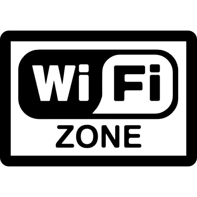 Wifi zone rectangular signal