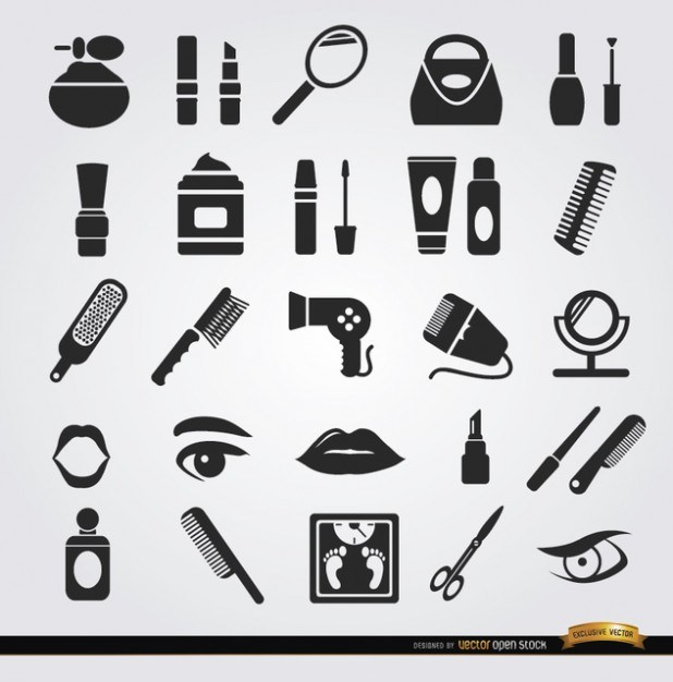 Woman Beauty icons  Vector   Free Download