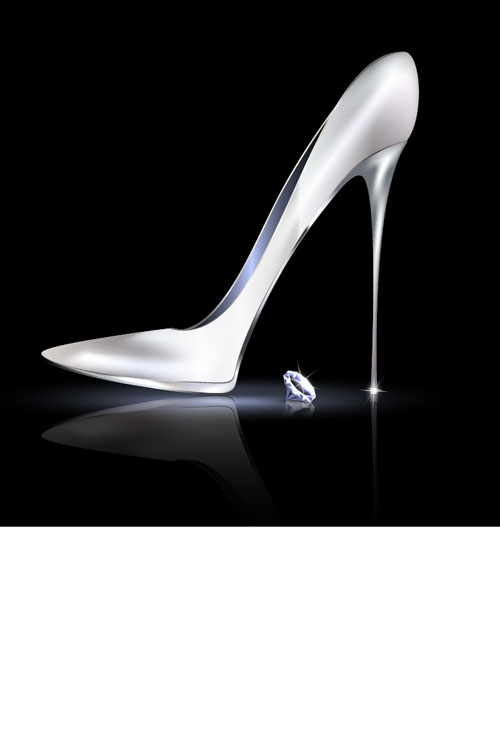 Women high-heeled shoes vector illustration 04