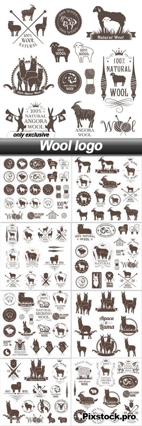 Wool logo – 9 EPS