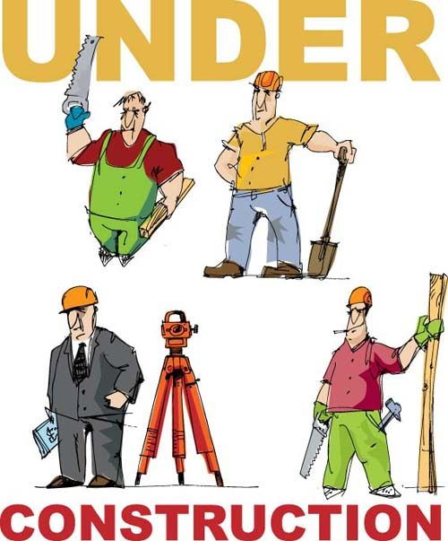 Workers in the Under construction vector 04