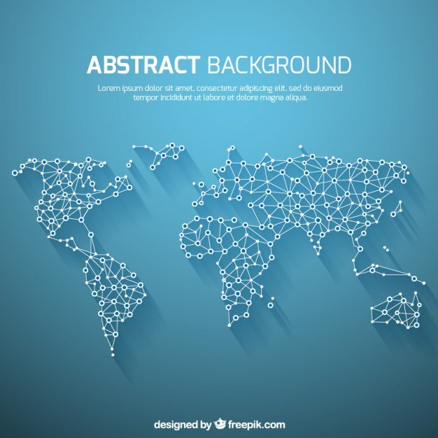 World map background in abstract style  Vector | Free Download