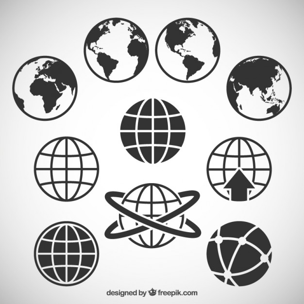World map icons  Vector | Free Download
