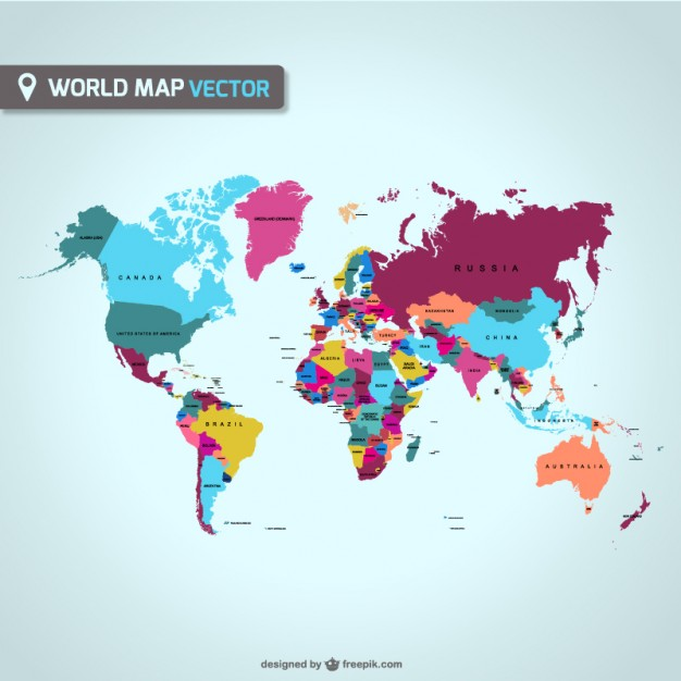 World map vector   Vector | Free Download