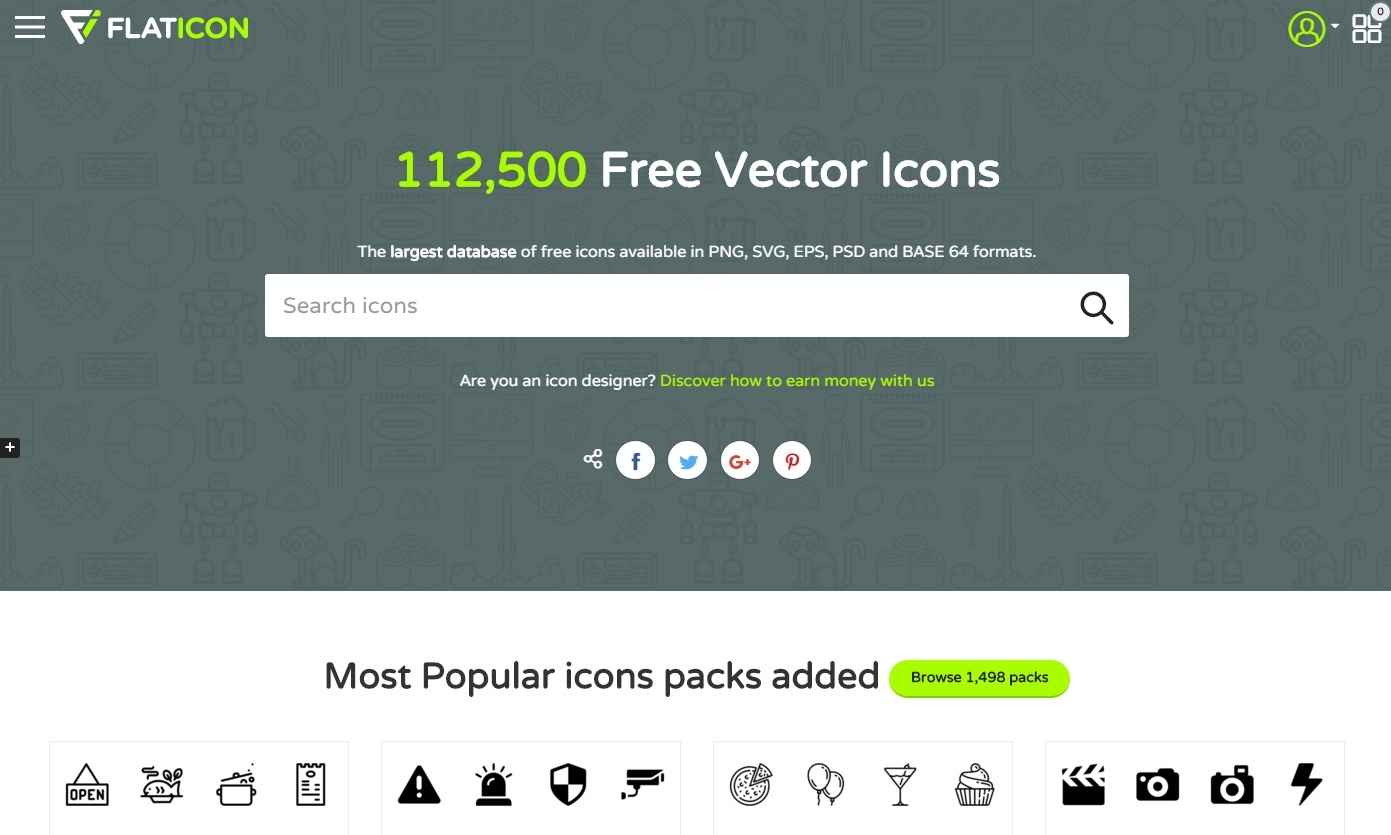 The largest database of free vector icons – www.flaticon.com