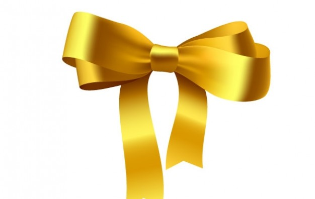 Yellow 3D ribbon
