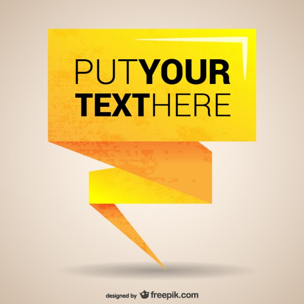 Yellow origami banner template
