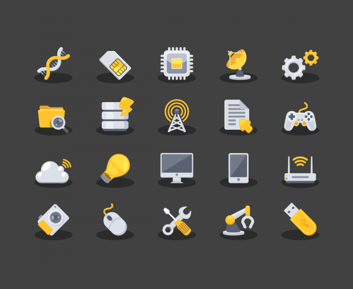 Yellow Techno Icons | IconStore