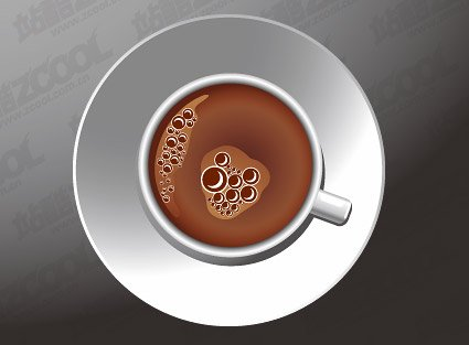 A cup of coffee vector material