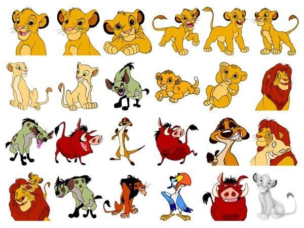 24 animal cartoon icons Disney