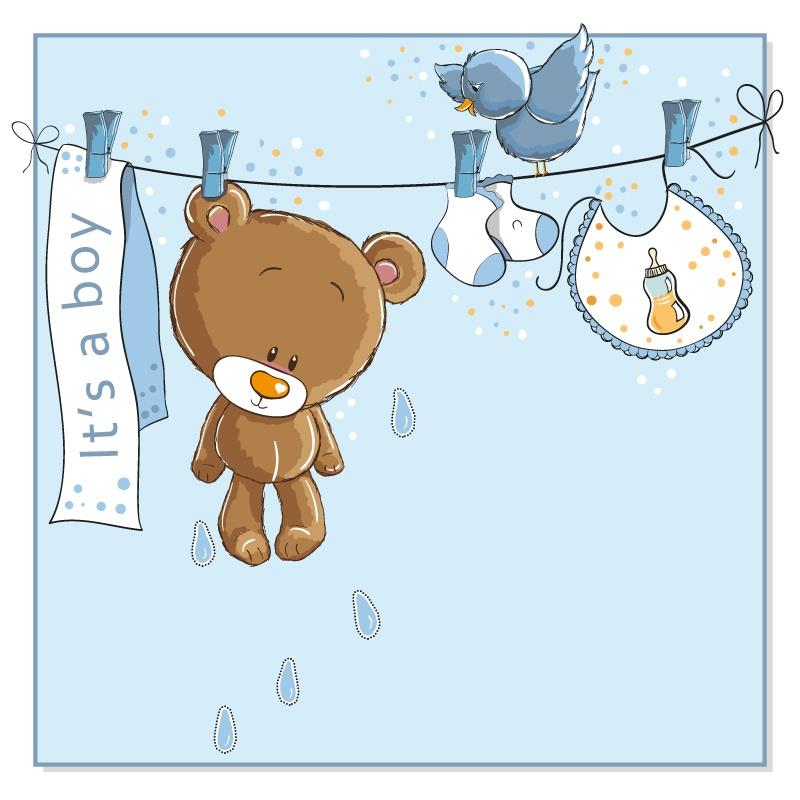 Baby Bear cartoon illustrator vector material