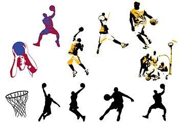 Basketball theme vector graphics