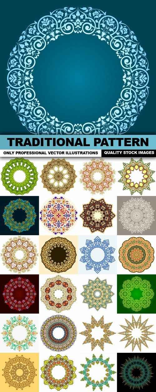 Beautiful Traditional Pattern – 25 Vector