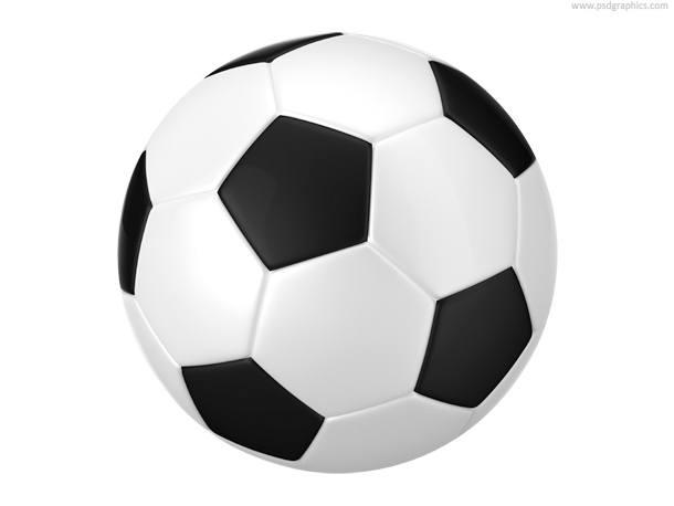 Black and white football (soccer) balls