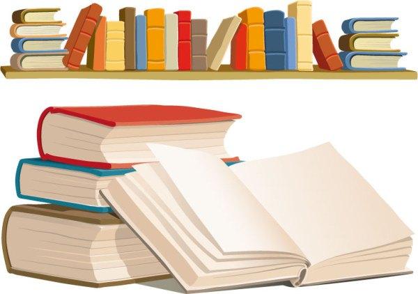 Book shelves Vector material