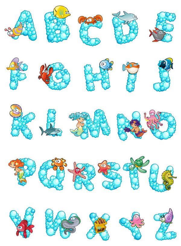 Cartoon letters creative design