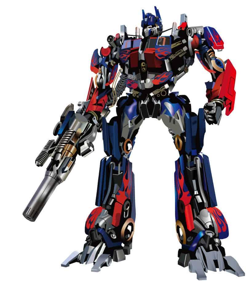 Cartoon Transformers Optimus Prime Vector