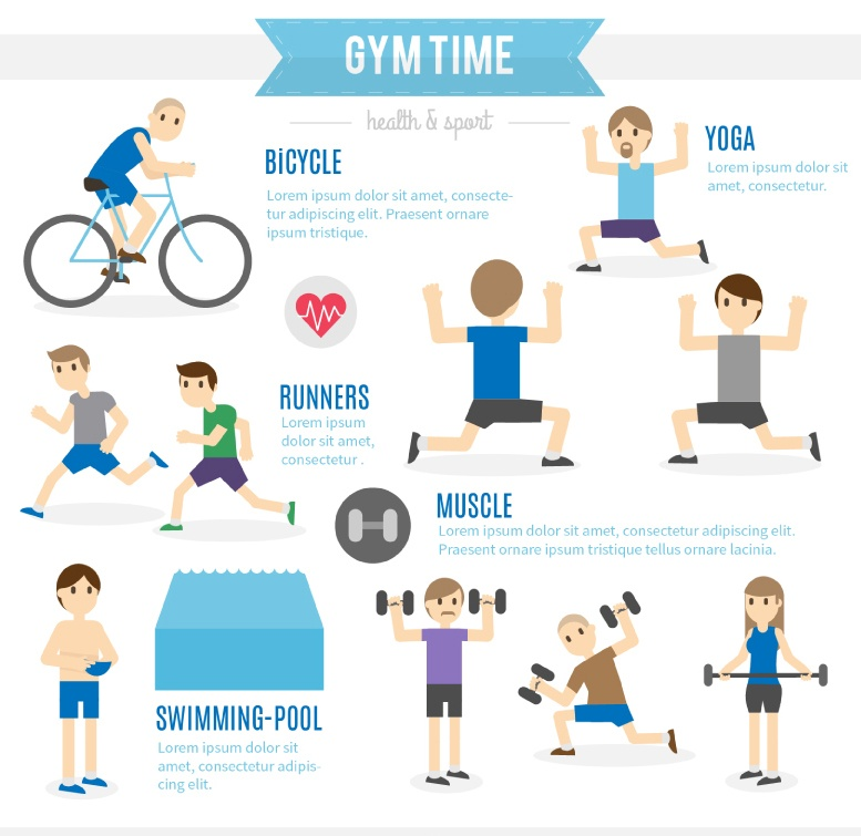 Character fitness information map vector material