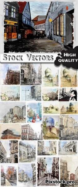 City Illustration – 25 Eps