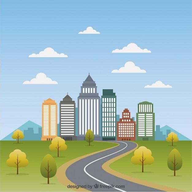 Cityscape Flat Illustration
