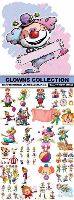 Clowns Collection – 25 Vector