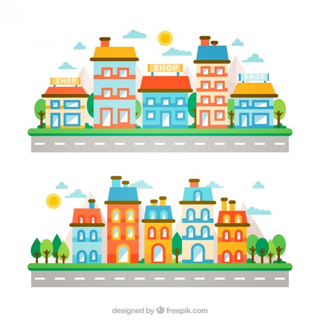 Colourful lovely city pack