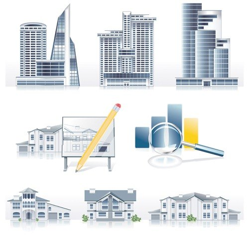 Creative Architecture design elements vector set 01 download