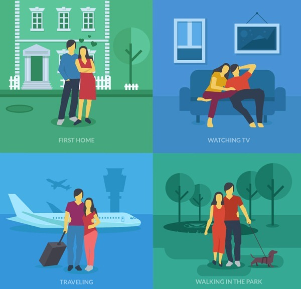 4 Creative Couple illustration