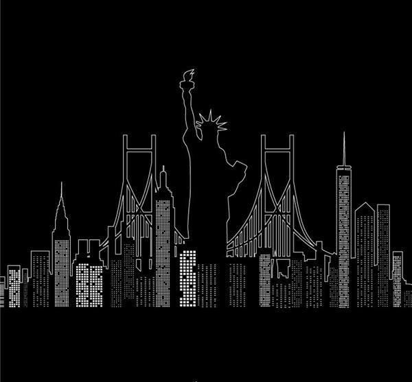 Creative New York City silhouette