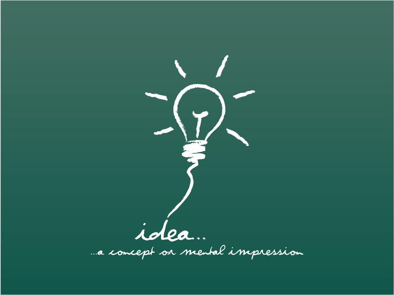 Creative thinking illustrator vector material