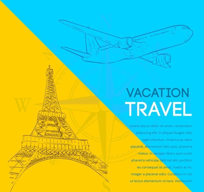 Creative Travel illustrator vector graphics